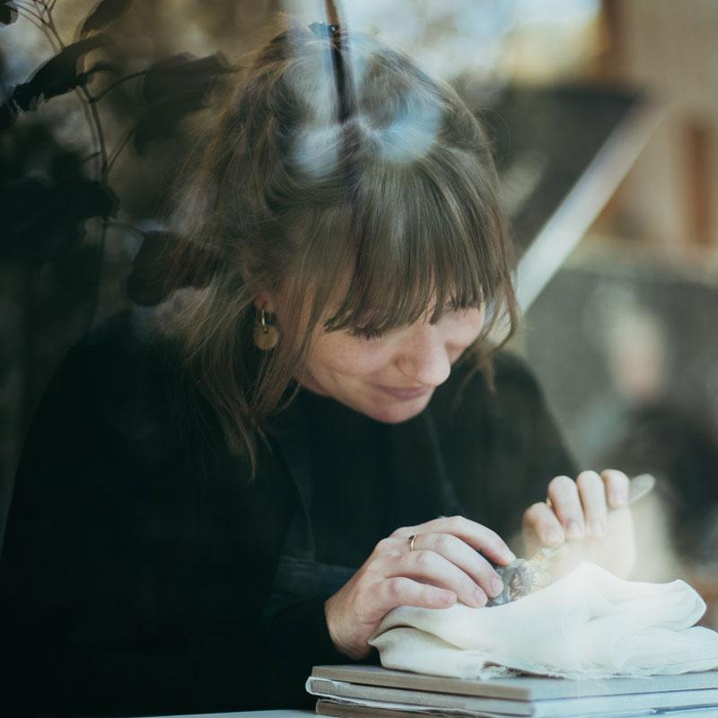 Lorette Hébrard, restauratrice oeuvre d'art